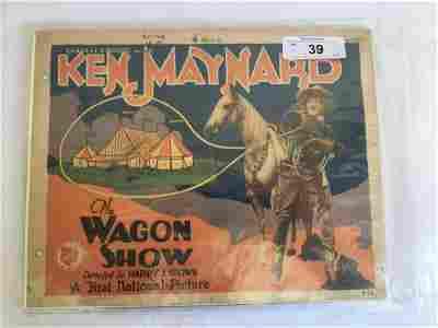 Ken Maynard. The Wagon Show. Set of (8) Cards.