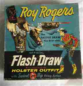 Roy Rogers. Flash Draw Holster Set Boxed.