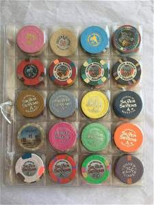 """Casino Chip Lot. Hotels Letter """"S""""."""