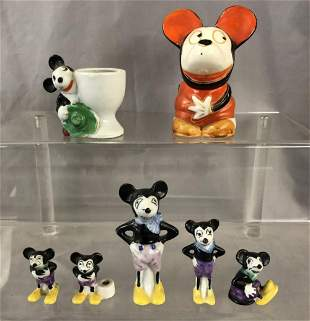 Early Japanese Disney Style Figurines