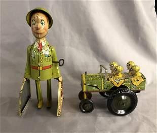 2 Marx Military Comic Toys