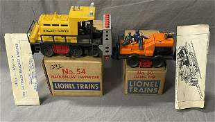 Clean Boxed Lionel 50 & 54 Motorized Units