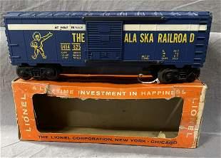 Unusual Boxed Lionel 6464-825 Alaska Boxcar