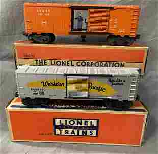 2 Clean Boxed Lionel Boxcars