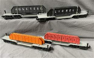 4 Variations Lionel 6418 Girder Cars