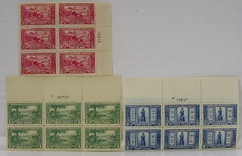 21: U.S. 617-619 PLATE BLOCKS OF 6.