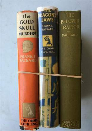 Frank L. Packard. Lot of Three First Editions.