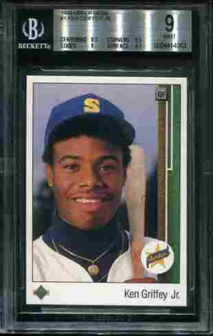 1989 Upper Deck Griffey Jr. Rookie. Beckett Graded