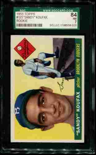 1955 Topps Sandy Koufax Rookie Graded.