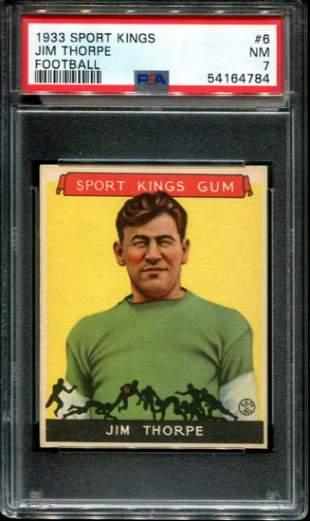 1933 Sports Kings. Jim Thorpe. PSA Graded.
