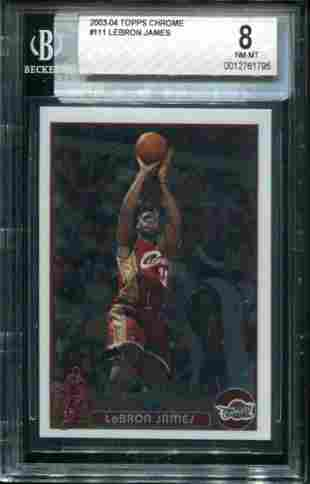 Topps 2003-2004 Lebron James Graded Rookie.