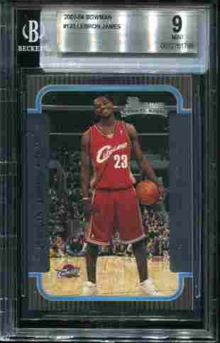 Bowman 2003-2004 Lebron James Rookie Graded.