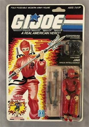 1987 MOC GI Joe Jinx Ninja Action Figure, 34 Back