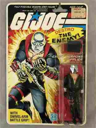 1984 MOC GI Joe Destro Action Figure, 32 Back