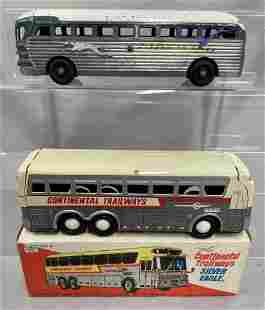 2pc Toy Bus Lot