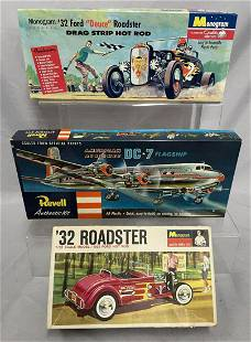 3 Vintage Model Kits