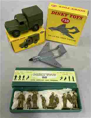 Boxed Dinky Military 150, 641 & 738