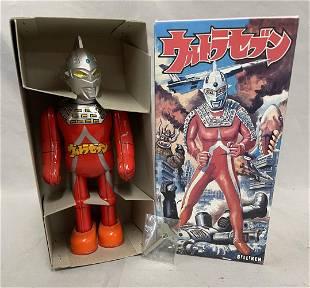 Ultra Man Robot Wind Up Box.