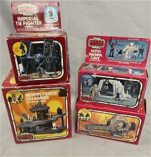 4 Boxed 1982 Star Wars Micro Collection Units