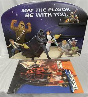 2 Vintage Star Wars Adversing Displays