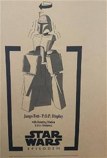 Sealed 2002 Jango Fett Rotating Store Display