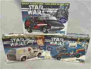 3 Boxed Star Wars MPC Van Model Kits