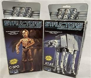 2 MPC Star Wars 1984 Structor Kits