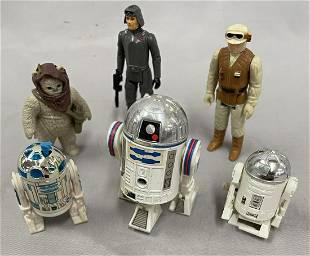 6 Vintage Assorted Star Wars Figures