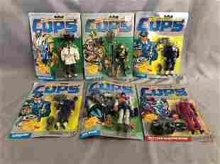 1988, (6) MOC Cops N Crooks Action Figures, Hasbro