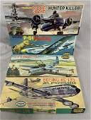 4 Boxed Vintage Aurora Airplane Model Kits