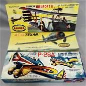 3 Boxed Vintage Aurora Airplane Model Kits