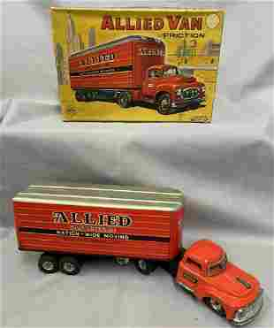 Boxed Marx Allied Van Lines Tin Truck