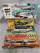 4 Boxed Vintage HAWK Airplane Model Kits