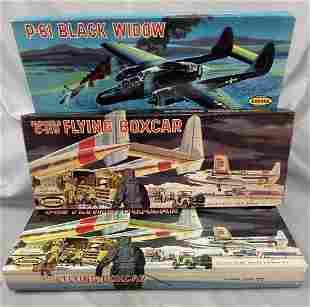 3 Boxed Large Aurora Airplane Model Kits