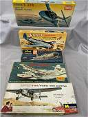 5 Boxed Vintage Airplane Model Kits