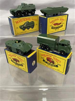 4 Boxed Early Matchbox Military Vehicles