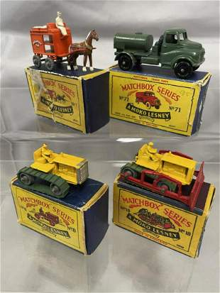 4 Boxed Early Matchbox Vehicles