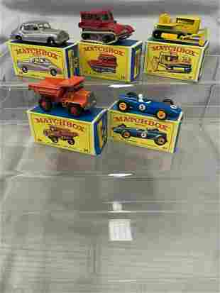 5 Boxed 1960s Matchbox Vehicles