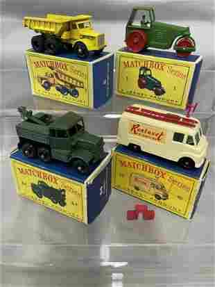 4 Boxed Matchbox Vehicles