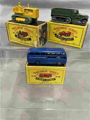 3 Boxed Matchbox Vehicles