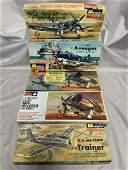 5 Vintage Monogram Airplane Model Kits