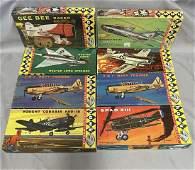 8 Vintage HAWK Airplane Model Kits