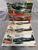 4 Vintage HAWK Airplane Model Kits, 1 Revell
