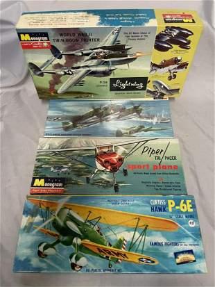 4 Vintage Airplane Model Kits