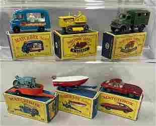 6 Boxed 1960s Matchbox Vehicles