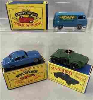 3 Boxed Vintage Matchbox Vehicles
