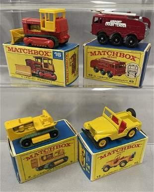 4 Boxed 1960s Matchbox Vehicles