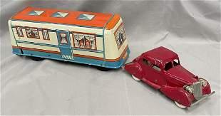 Vintage Toy Car & Trailer Lot
