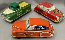 3 Cortland & Marx Tin Vehicles
