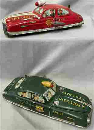 Marx Fire Chief And Dick Tracy Cars